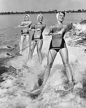 Vintage Waterski Image Old Soul I Was Born In The Wrong