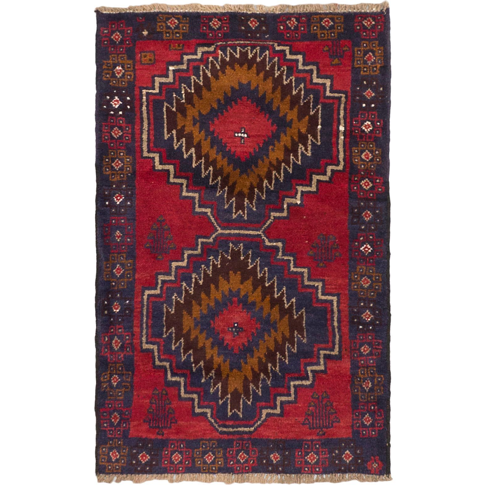 eCarpetGallery Kazak Red/ Hand-knotted Area Rug