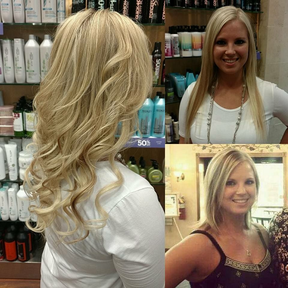 Before And After Hair Extensions Performed By Sam 320 253 5353