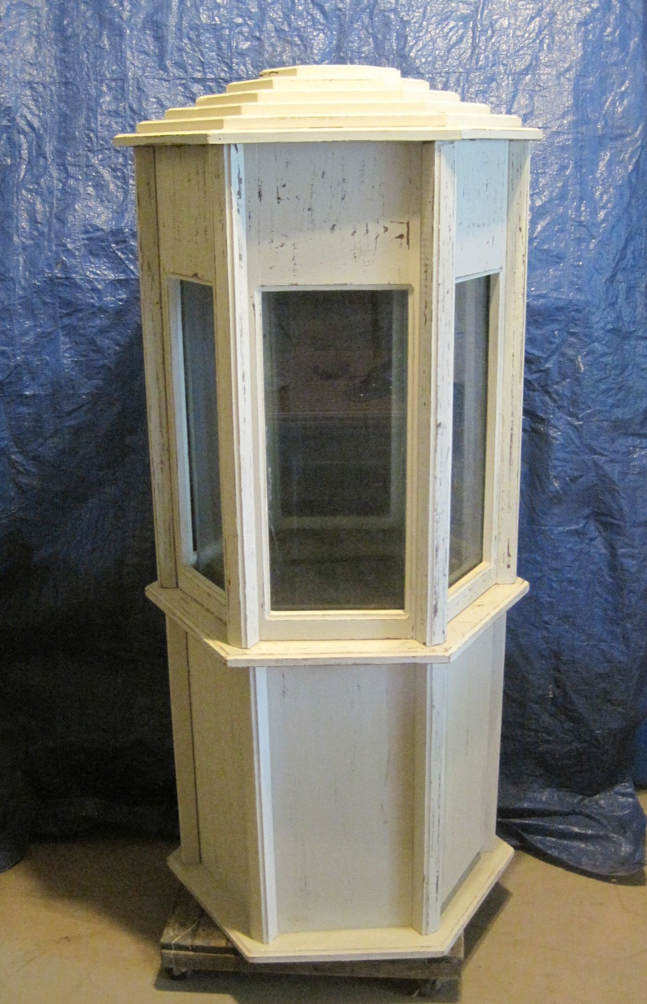 Lighthouse Aquarium stand Painted & distressed