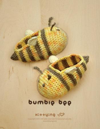 Crochet Patrón Bumble Bee calcetines bebé prematuro por meinuxing ...
