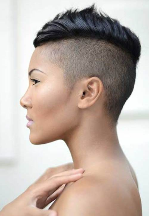 Mohawk Hairstyles For Women long top mohawk with faded sides and shaved part Cute Chic And Sexy Mohawk Hairstyles For Black Women With Short Hair