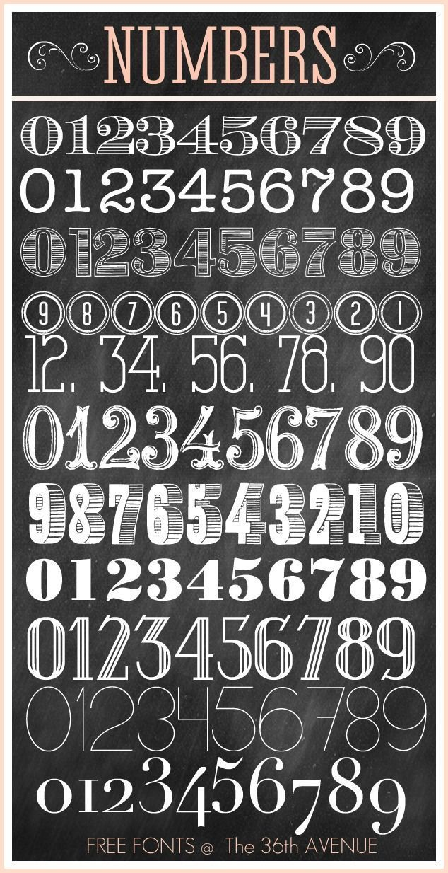 Number Free Fonts – The 36th AVENUE