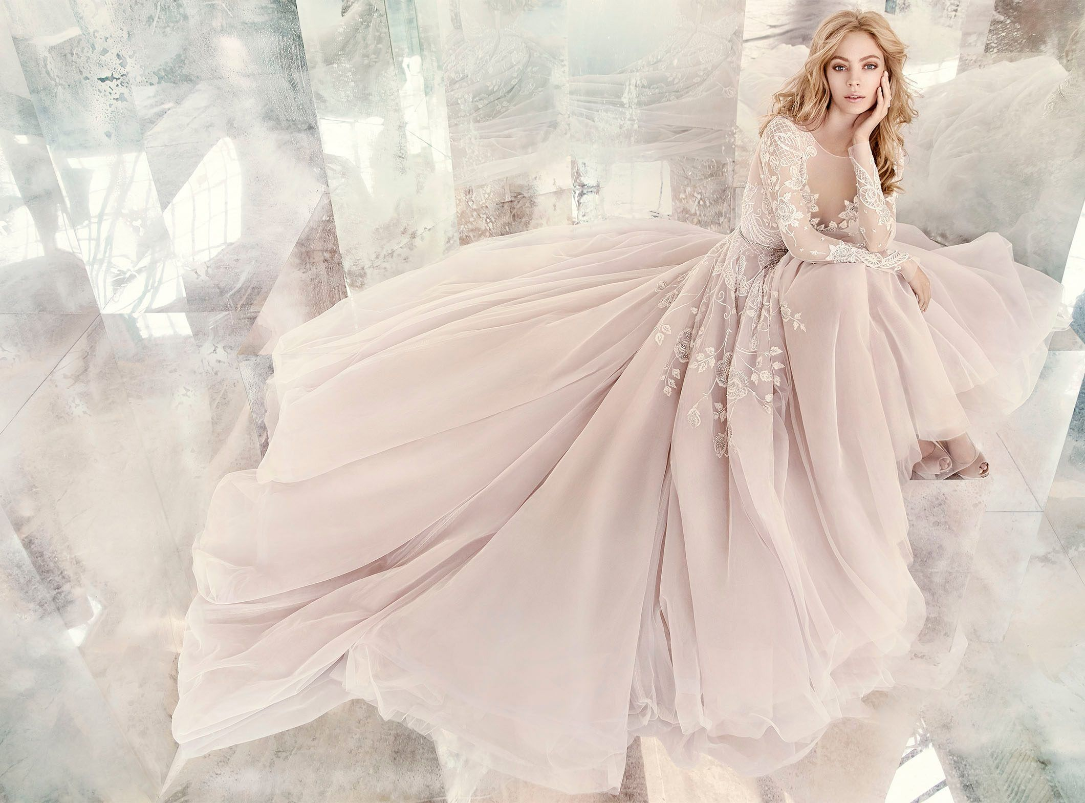 Wedding dress short in front with long train  Style  Hayley Ad Shot  wedding  Pinterest  Hayley paige