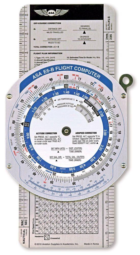 ASA E6B Color Flight Computer Essential Equipment For All