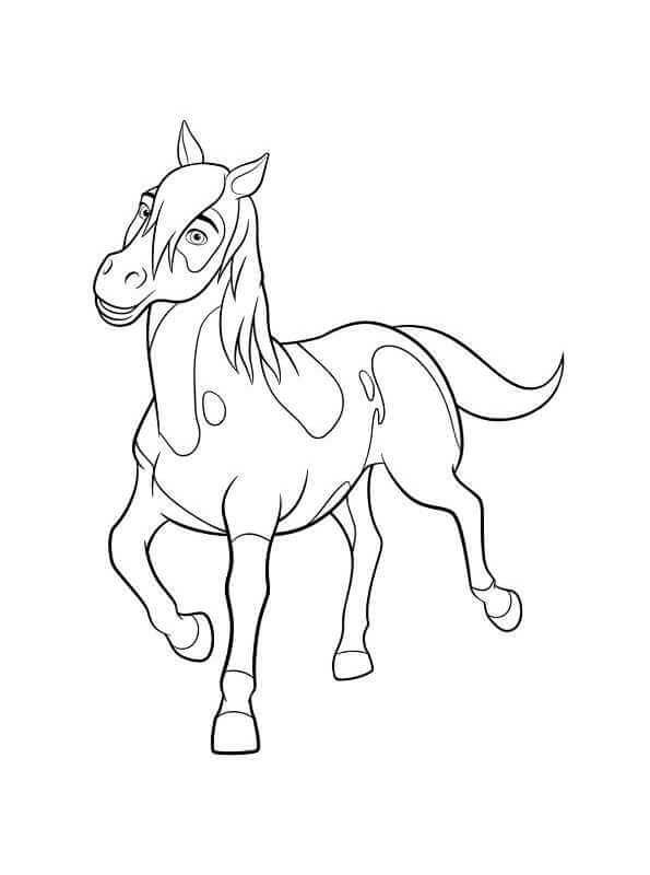 Spirit Riding Free Coloring Page Chica Linda Horse