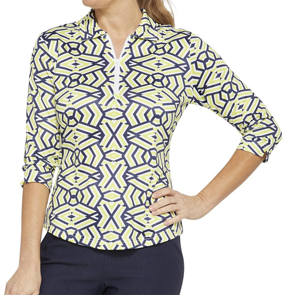 Ggblue Escapade Penny 3 4 Sleeve Polo Golf Outfits Women Ladies Golf Golf Fashion Men