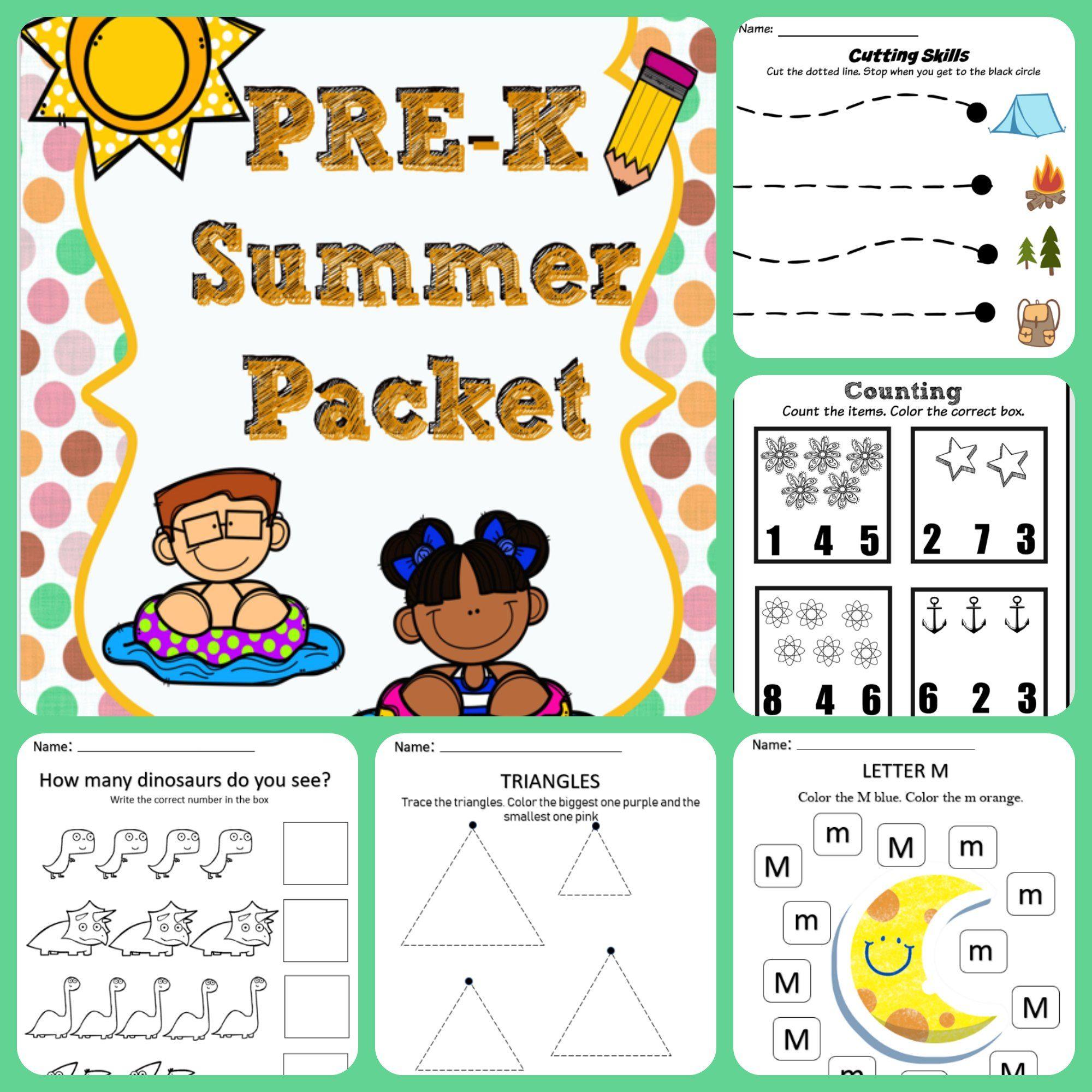 Pre K Summer Packet Summer Packet Pre K Math Worksheets Number Recognition Worksheets [ 2000 x 2000 Pixel ]