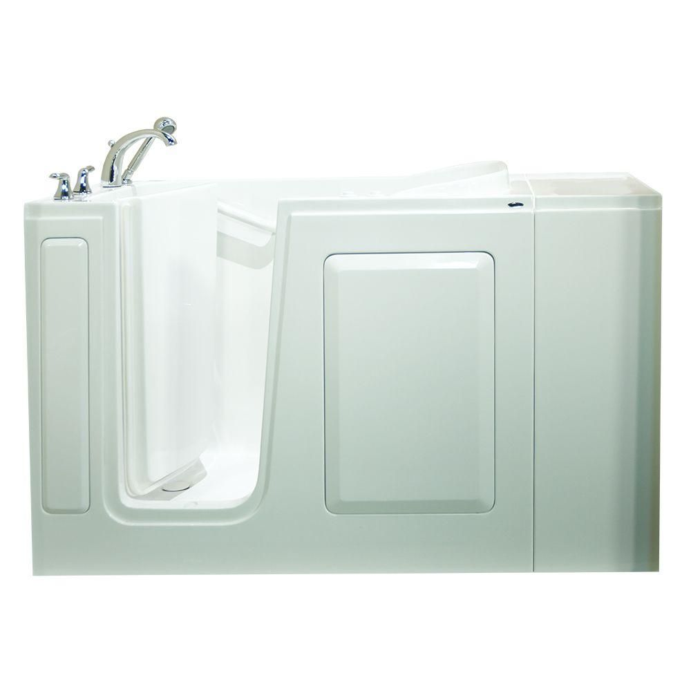 Safety Tubs Value Series 48 in. x 28 in. Left Hand Walk-In Whirlpool ...