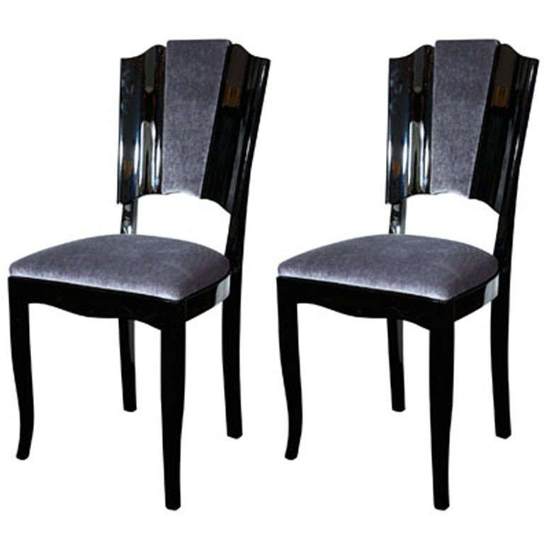 Room Pair Of Art Deco Dining Chairs
