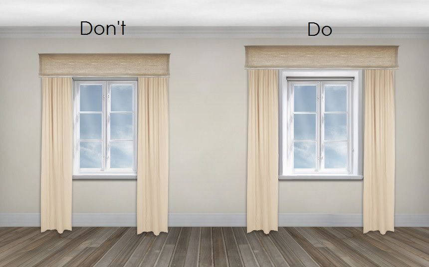Choose Curtain Wider To Look The Window Much Bigger And Place Rail A Little Higher Do Same Trick