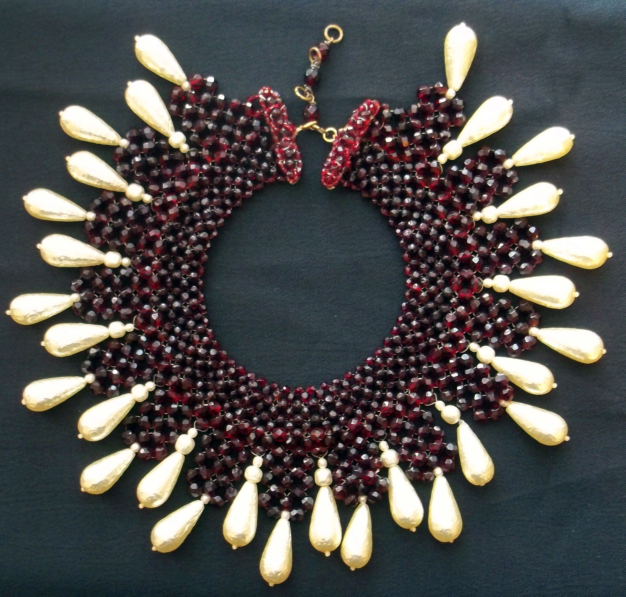 Coppola e Topo - Collier 'Pampilles' - Perles et Grenats Imitation