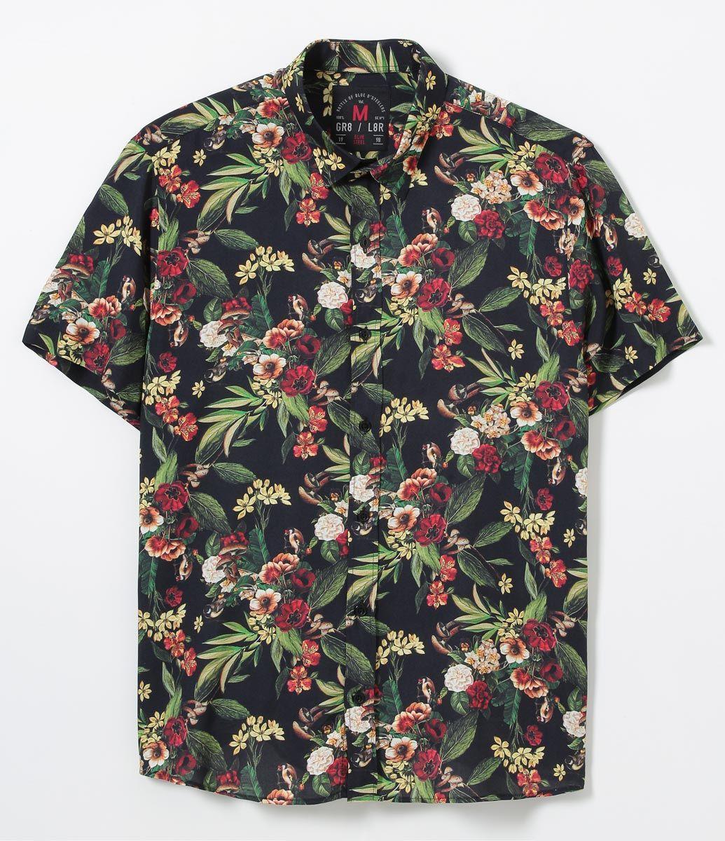 Camisa masculina Manga curta Floral Marca  Blue Steel Tecido  viscose  Composição  100% viscose Modelo veste tamanho  M COLEÇÃO VERÃO 2017 Veja  outras opções ... 4c0aa84bad8
