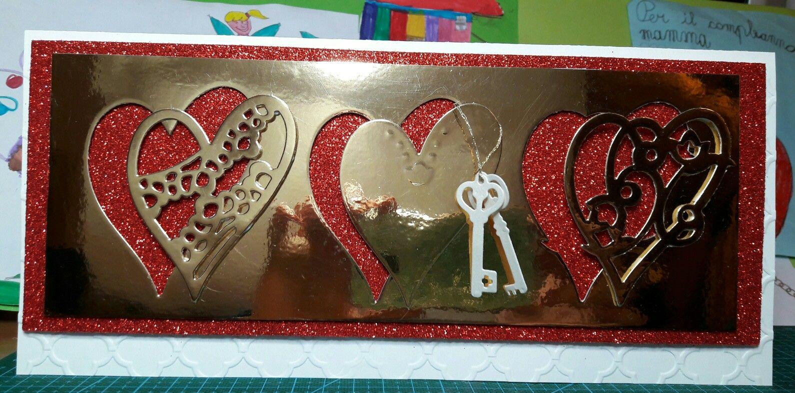 Cartolina Per S Valentino In Gomma Crepla Lo Sfondo Rosso E