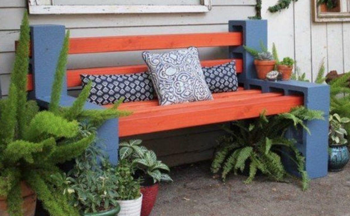 Cinder Block Bench Seat Video