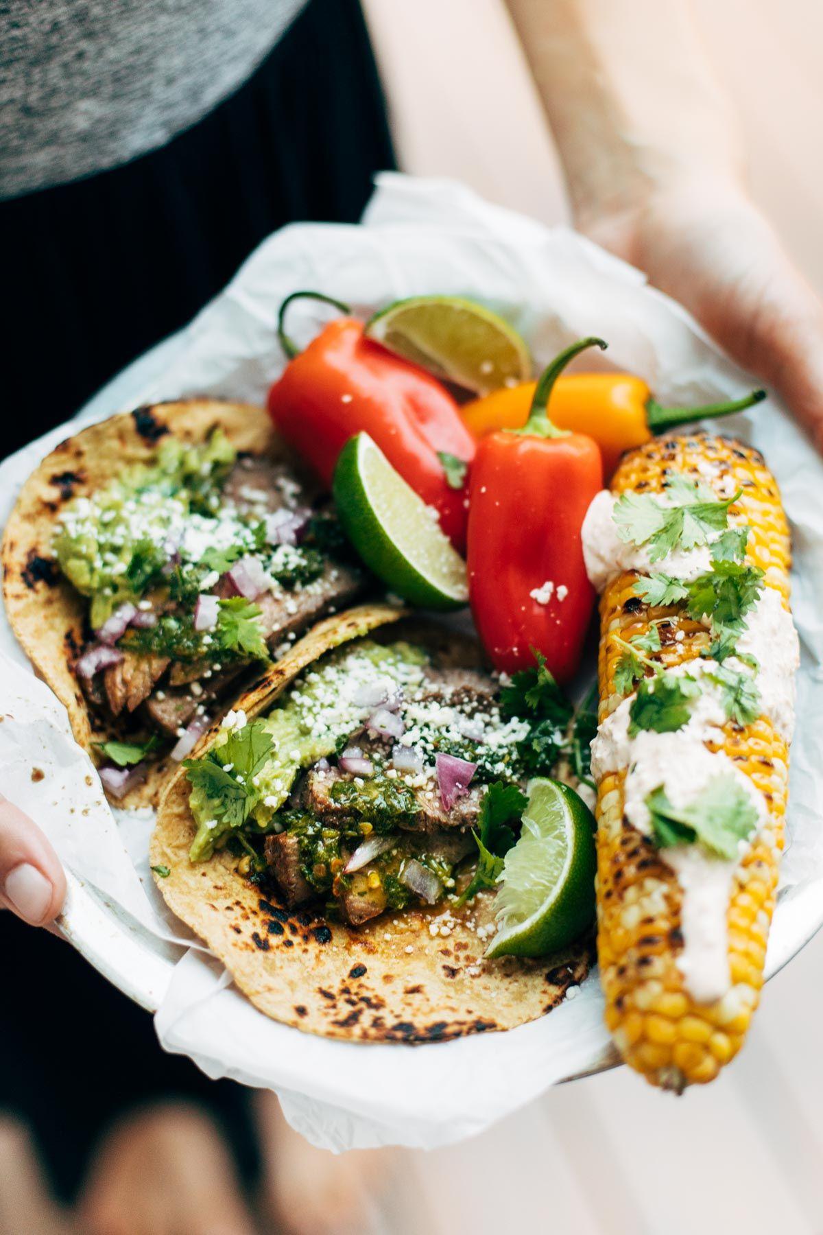 Rockin Chimichurri Steak Tacos Recette Tacos Mexicains