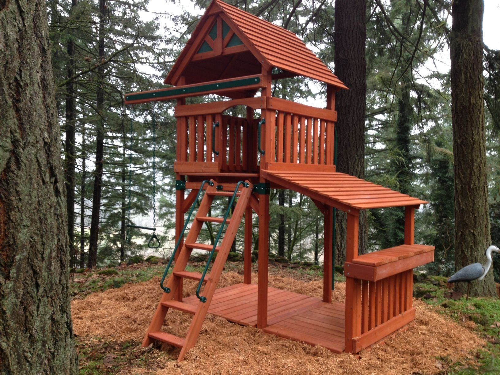 Great Play Structure for a smaller, wooded area! | House ...