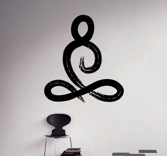 Symbol Yoga Pose Wall Vinyl Decal Yoga Studio Wall Sticker Decor