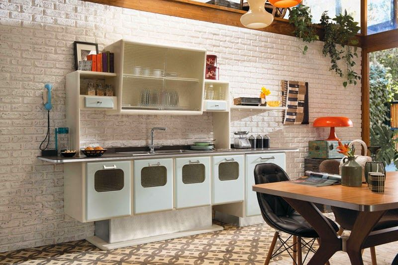 Cocina Mid Century St Louis De Marchi Cucine Kitchen Pinterest - Cocina-retro-vintage