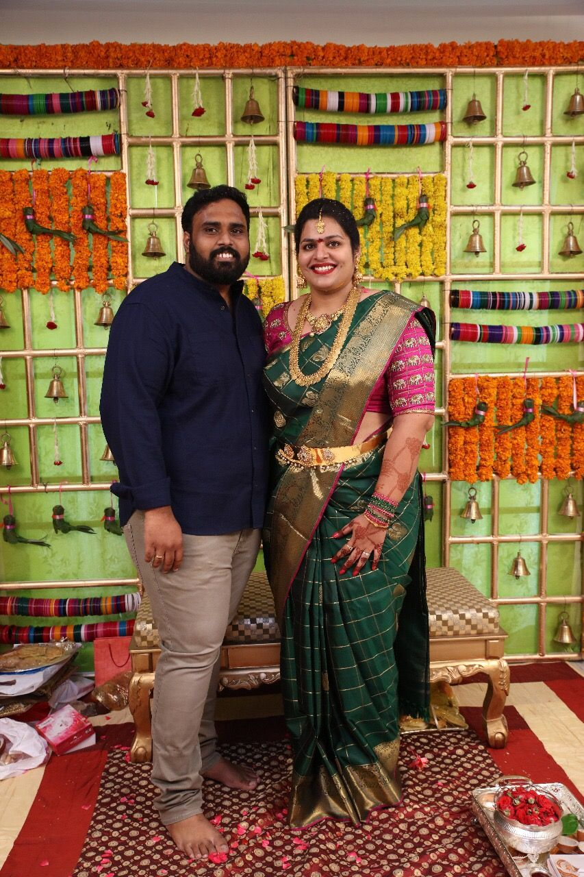 South Indian Baby Shower Decorations : south, indian, shower, decorations, Lakshmi, Kanjeevaram, Indian, Shower, Decorations,, Showers,, Beautiful, Wedding, Decorations