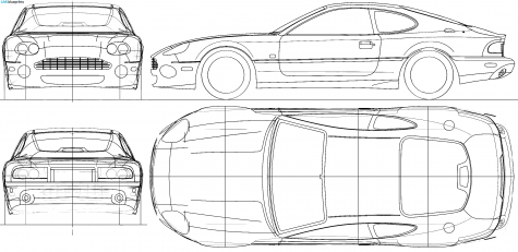Templates Of Cars For Cake Modelling Aston Martin Db7