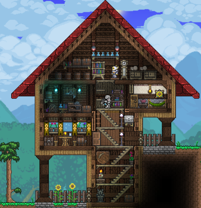Terrarium Terraria House Design: Pin By John Jones On Terraria