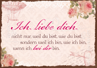 Ich liebe dich - Postkarte - Grafik Werkstatt Bielefeld