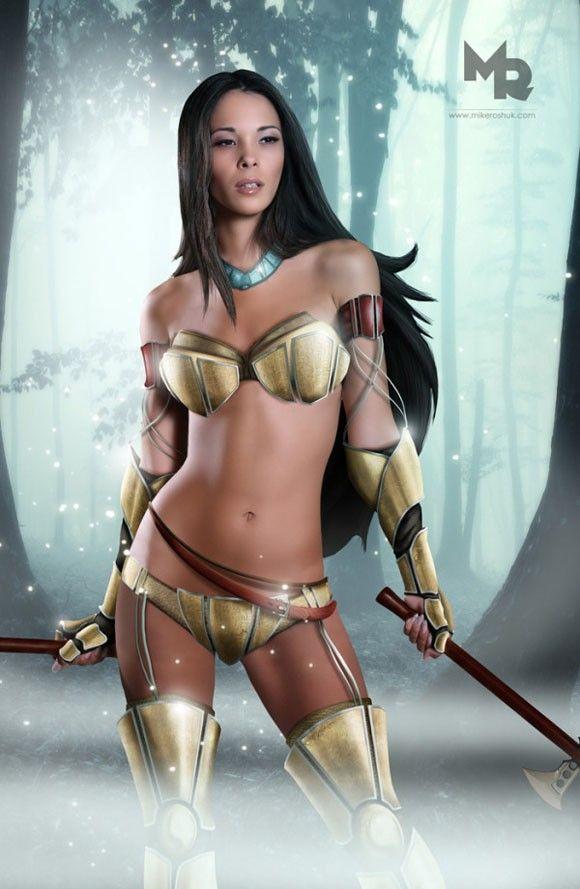 macacomalandro: Princesas da Disney reimaginadas na forma de guerreiras sensuais