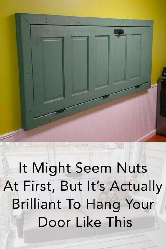 Friends Raved About His Gorgeous Furniture  Then He Revealed How He Made It From An Old Door is part of Friends Raved About His Gorgeous Furniture Then He Revealed - Follow this list of DIY hacks to find a use for your old doors!