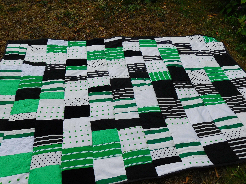 Grun Weisse Patchwork Decke Decke Grun Schwarz Weiss Rustikaler
