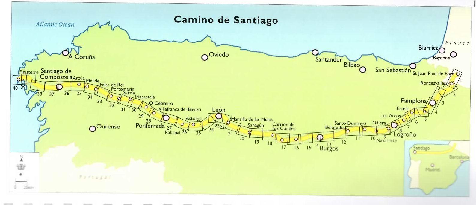7b49752f66a6 In honor of my sister Kim Kolb walking Camino de Santiago. Here s her path  - camino de santiago map - Google Search