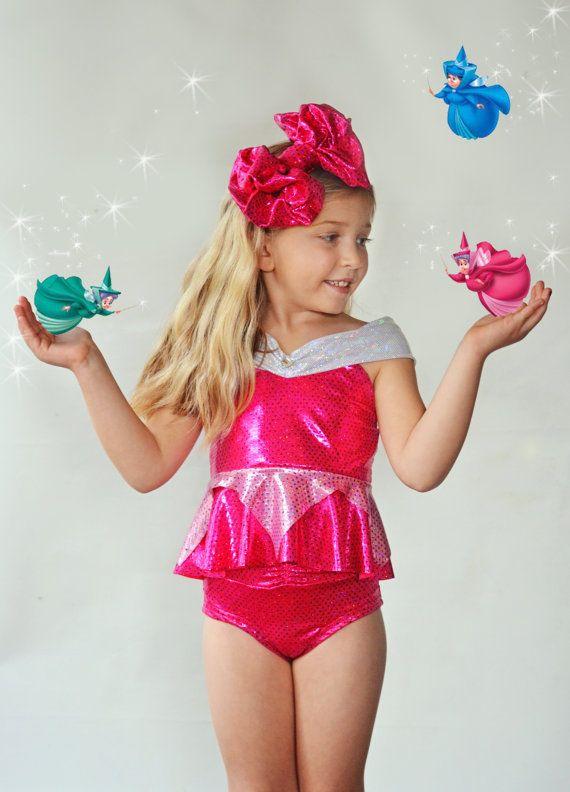 6091ec7ef62f3 Girls Sleeping Beauty Aurora Swim Suit by ISADORAKIDS on Etsy ...