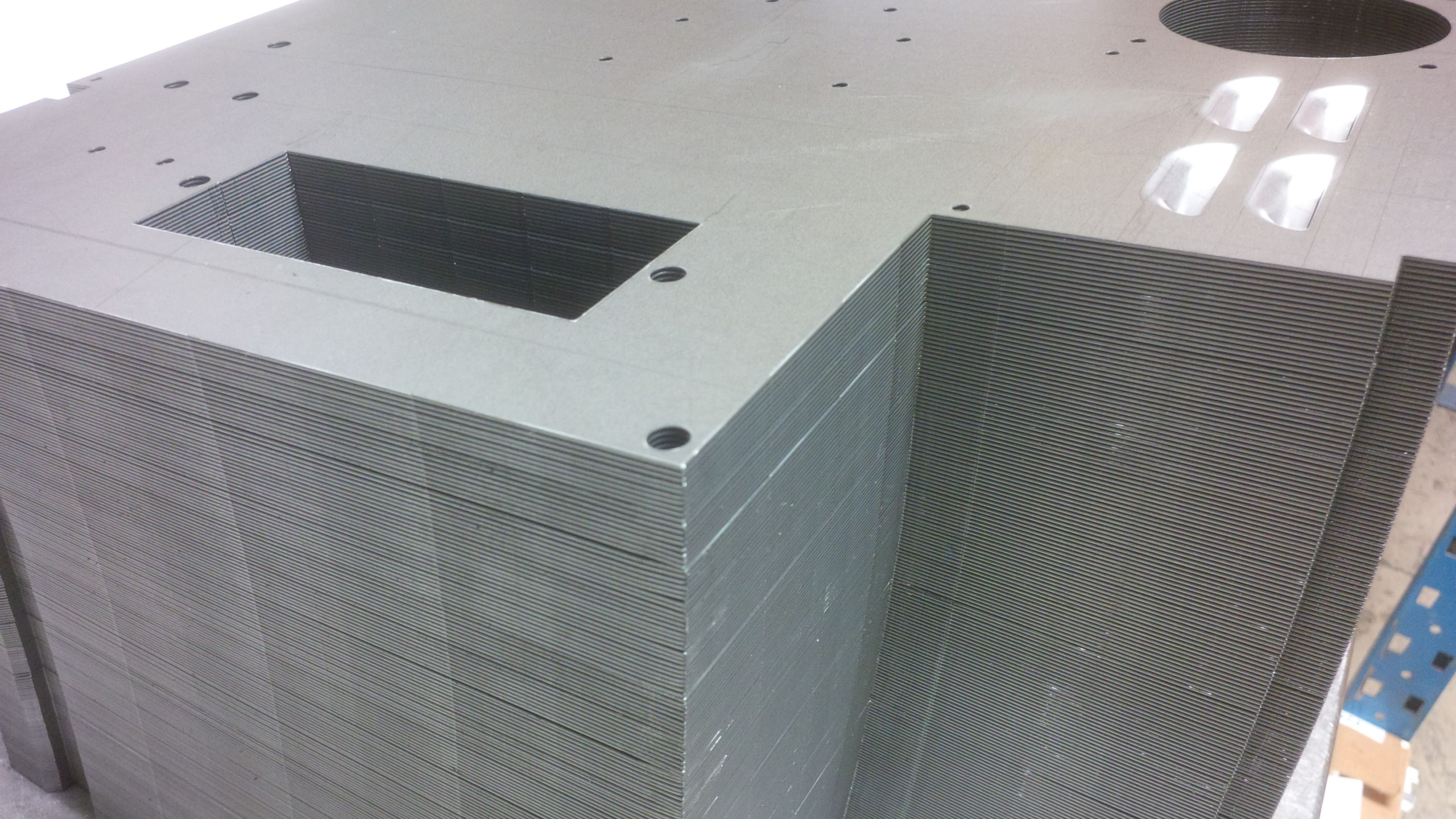 Cnc Punched Mild Steel Enclosures Awaiting Bending Www Vandf Co Uk Sheet Metal Work Types Of Sheet Metal Metal Working