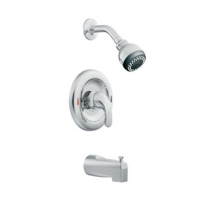 Moen Adler Single Handle Tub And Shower Faucet In Chrome L82694 At