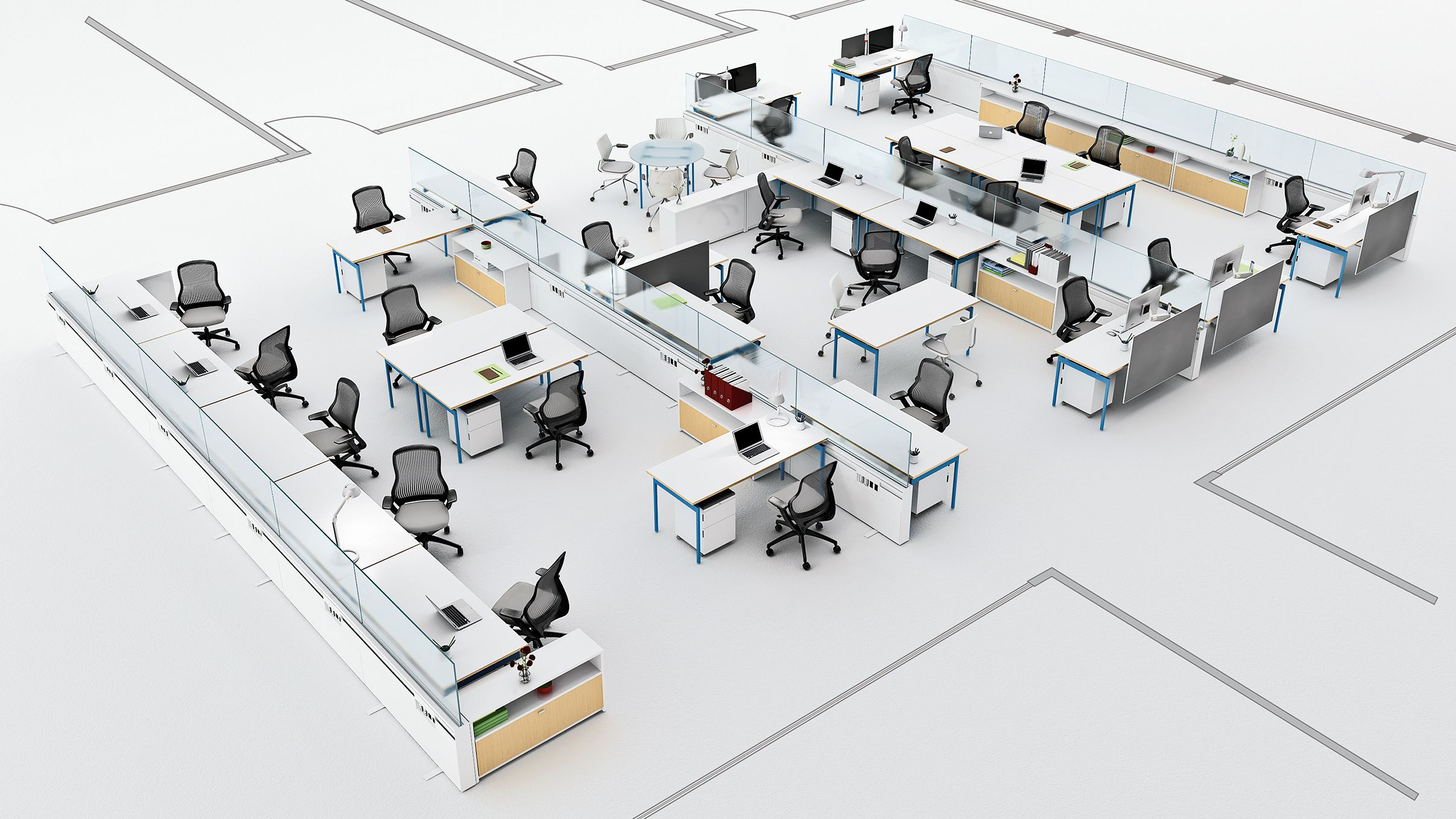 Innovation spaces workspace planning google search for Office space planning ideas