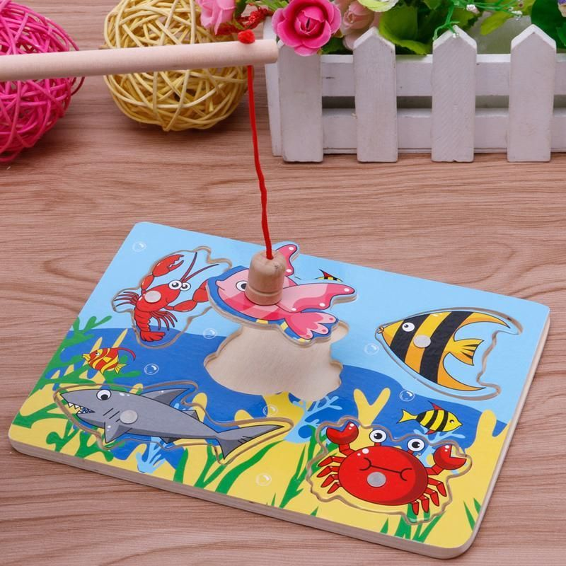 New Baby Kids Magnetic Fishing Game + 3D Jigsaw Puzzle ...