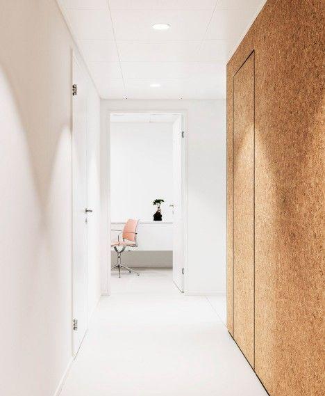 Cork Wall Cladding With Hidden Door At Heart Surgery Zurich By Dost Cork Wall Cork Wall Panels Home