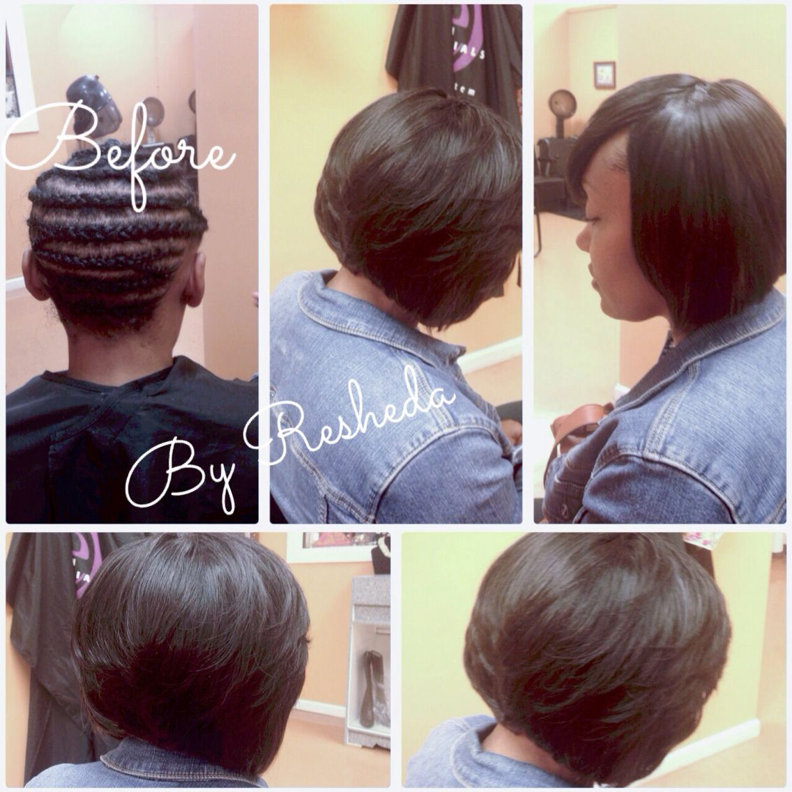 full sew-in bob✂️no leave out #sewinbob #sewinstyle #bobaction