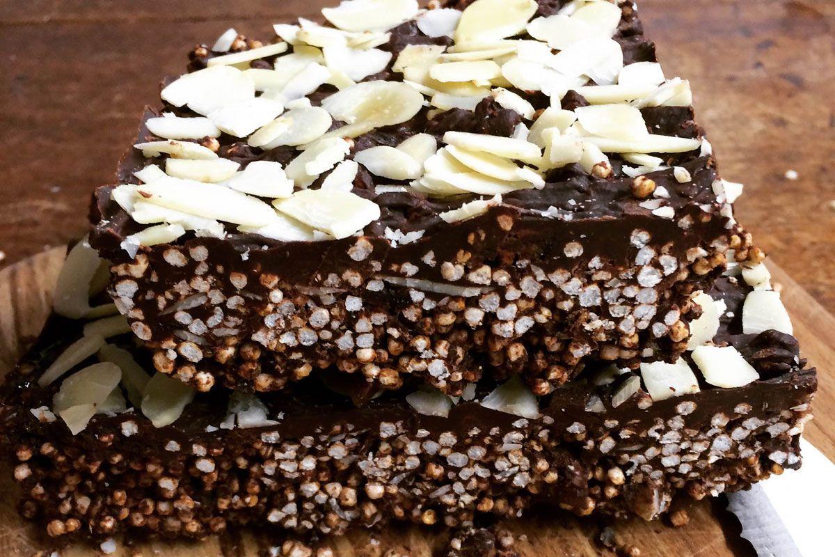 Puffed Quinoa and Chocolate Fridge Cake - Hodmedods