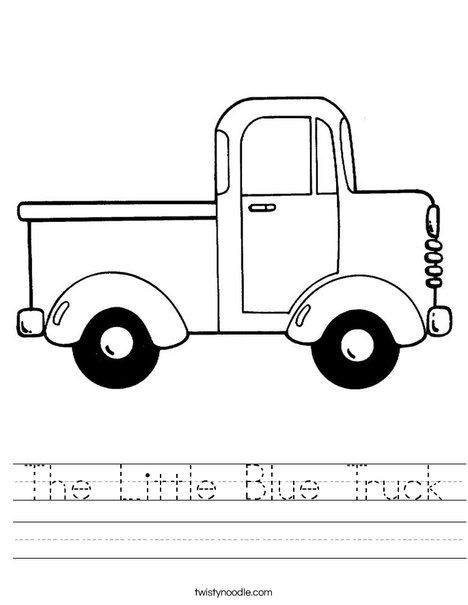 The Little Blue Truck Worksheet Truck Coloring Pages Little Blue Trucks Truck Crafts