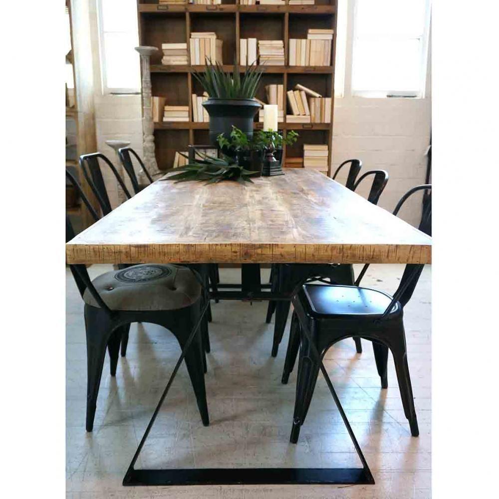 Wooden Industrial Table Urban Beach Lifestyle Furniture Nz