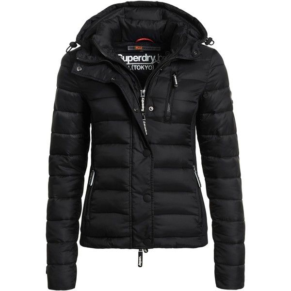 Superdry Hooded Fuji Slim Double Zip Jacket (765 BOB) ? liked on Polyvore  featuring