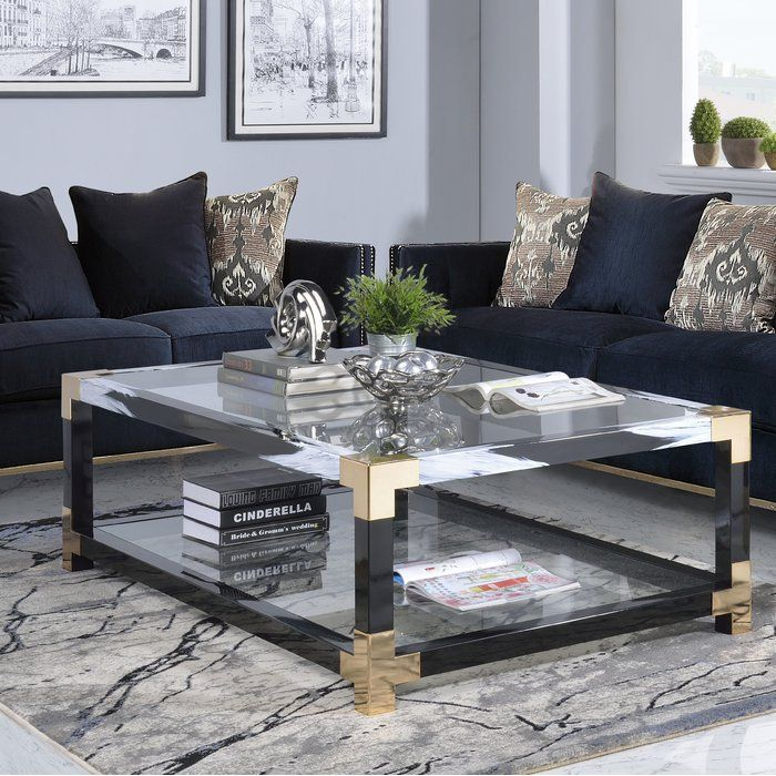 Photo courtesy of ann lowengart photo by: Hymel Coffee Table | Coffee table, Glam living room ...