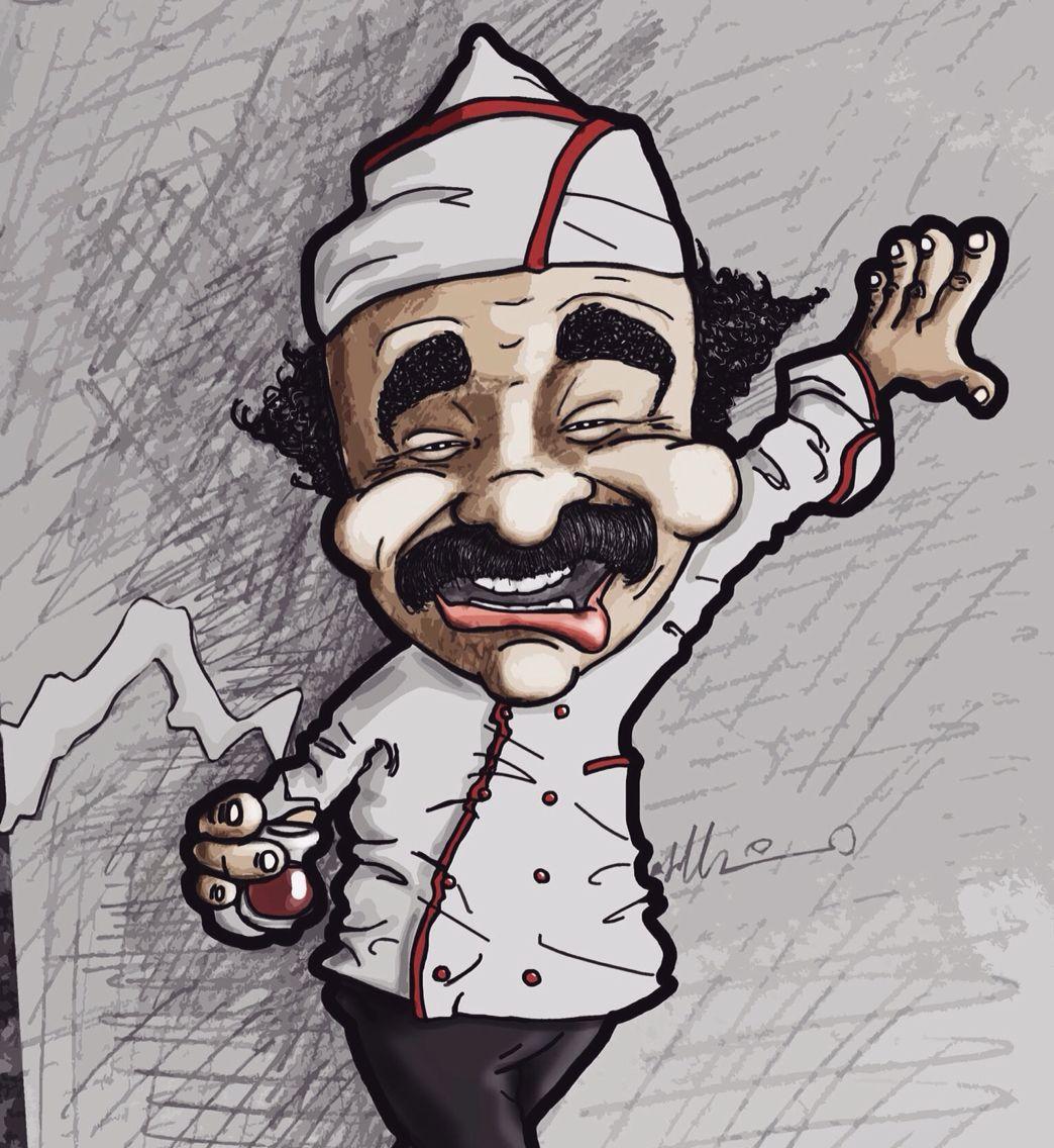 Erdal Bakkal Caricature Cartoon Drawing Illustration