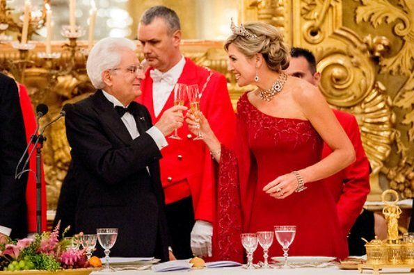 King Willem-Alexander and Queen Maxima state visit Italy, Evening banquet day 1 - June 20, 2017