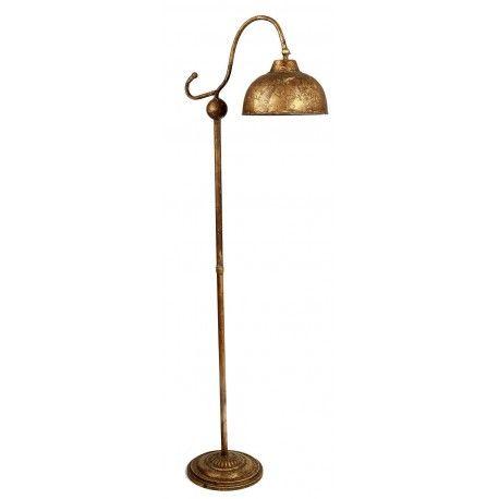 lámpara pie decadente cobre
