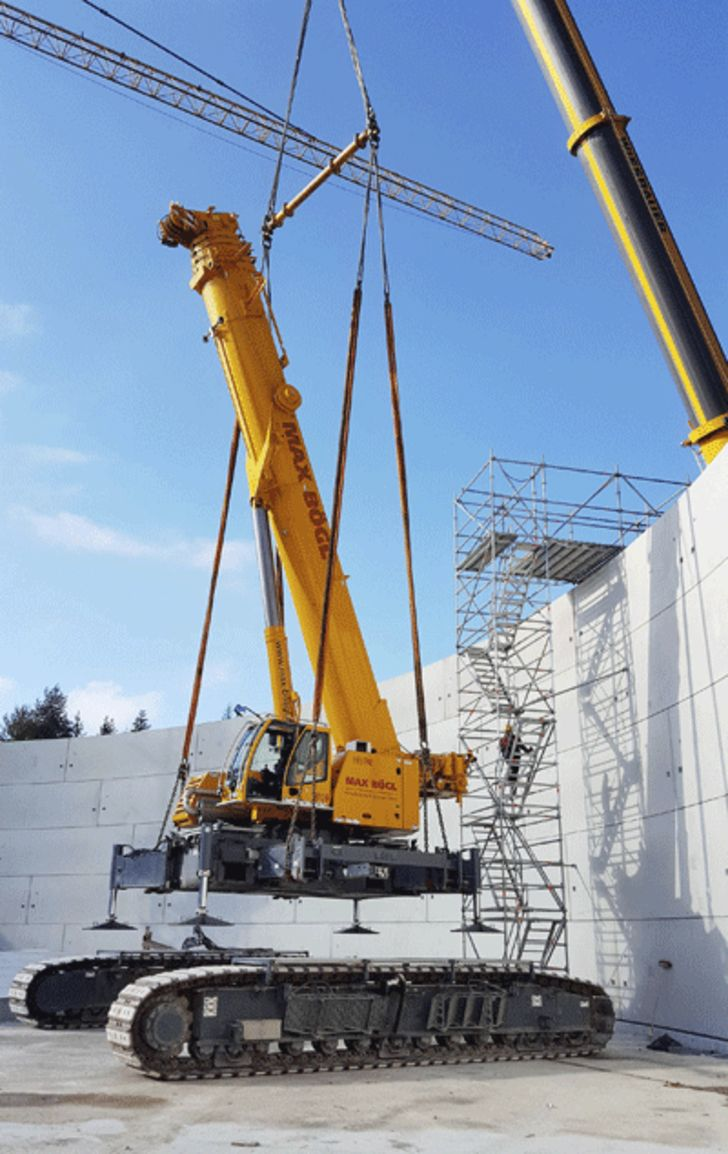 Liebherr Ltr1220 In Innovative Energy Project Germany Workstation Cranes Overhead Work Station Crane Ase Systems Cranepedia Telescopiccrawler