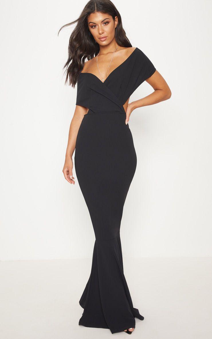85d64f07b864d Black Bardot Cut Out Fishtail Maxi Dress in 2019 | Wardrobe ...
