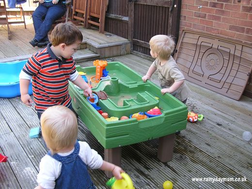 day 10 of 30 days of hands on play and making concoctions in the garden with sand, water, mud and stone