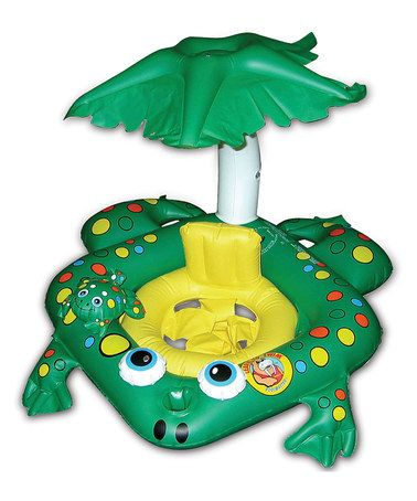 Another great find on #zulily! Frog Covered Pool Baby Seat #zulilyfinds